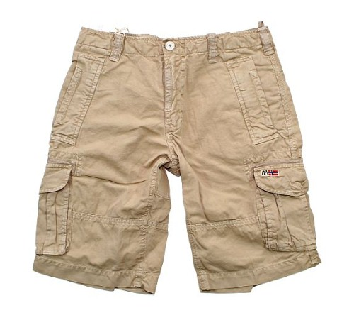 napapijri herren cargo shorts short bermuda hose nangis rena beige w34 ebay. Black Bedroom Furniture Sets. Home Design Ideas