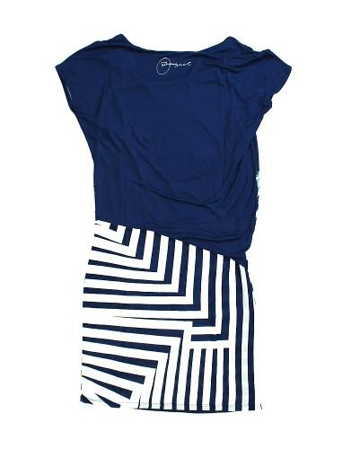desigual damen kleid dress 51v20c5 m laga 5000 blau wei. Black Bedroom Furniture Sets. Home Design Ideas