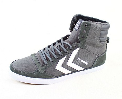 hummel herren sneaker schuhe slimmer stadil stadil waxed 289 2652 grau gr 43 ebay. Black Bedroom Furniture Sets. Home Design Ideas