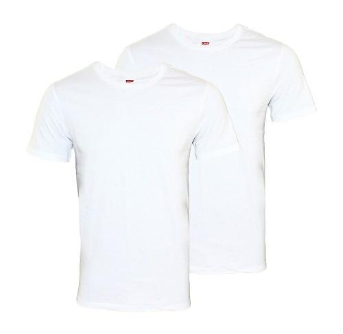 levis 2er pack t shirt rundhals 200 sf wei gr xl ebay. Black Bedroom Furniture Sets. Home Design Ideas
